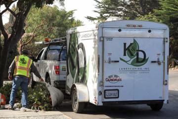 K&D Landscaping, landscape maintenance truck